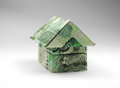 House of one thousand ruble note Royalty Free Stock Photo