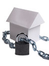 House and padlock one Royalty Free Stock Photo