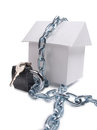 House and padlock Royalty Free Stock Photo