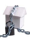 House and padlock three Royalty Free Stock Photo