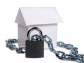 House and padlock two Royalty Free Stock Photo