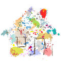 House Paint Drops Splatter Grunge Home Abstract Royalty Free Stock Photo