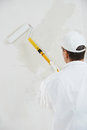 House painter at work Royalty Free Stock Photo