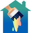 House painting Stock Photography