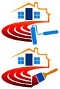 House painting logo Stock Image