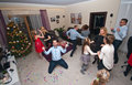 House party on New Year's Eve Royalty Free Stock Photo