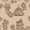 House pattern seamless,vector Royalty Free Stock Image