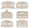 House pattern set Royalty Free Stock Photos
