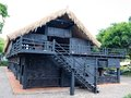 House of people at daklak province vietnam houses usually make by wood Royalty Free Stock Photos