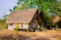 House of people at daklak province vietnam houses usually make by wood Stock Photography