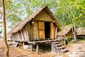House of people at daklak province vietnam houses usually make by wood Stock Photo