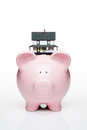 House on piggy bank Royalty Free Stock Photo