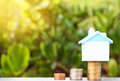 House on a pile of money Royalty Free Stock Photo