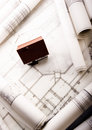 House plan blueprints Royalty Free Stock Photo