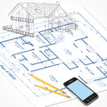 House Plans Sketch Royalty Free Stock Photo