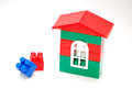 House from plastic blocks for children Royalty Free Stock Photos