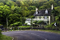 House, porlock hill Royalty Free Stock Photo