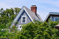 House a pretty on a sunny day in provincetown massachusetts Royalty Free Stock Photo
