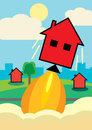 House Price Lift Off Royalty Free Stock Images