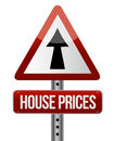 'house prices rise' sign Royalty Free Stock Photo