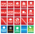 House or property icons or symbols and signs Stock Image