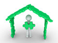House puzzle construction Royalty Free Stock Photo