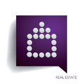 House for real estate abstract circles in speech bubble Stock Photography