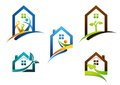 House, real estate, home, logo, apartment building icons, collection of construction home symbol vector design