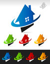 House Real Estate Swoosh Icons Royalty Free Stock Photo