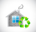 House recycle sign eco friendly concept illustration design Stock Image