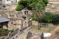 House of the relief of telephus in herculaneum italy view at one largest houses excavated area was an Royalty Free Stock Image