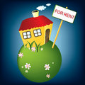 House for rent, vector Stock Image
