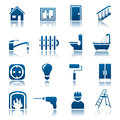 House repair icon set of icons Stock Photo