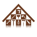 Set of icons on the theme of building tools for repair or alteration your house Royalty Free Stock Photo