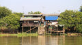 House on the river in thailand in ayutthaya Royalty Free Stock Photo