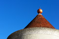 House roof and dome against blue sky Stock Images