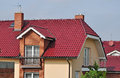 House roof new roofing and cover or tiling country residence Stock Photo