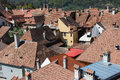 House Rooftops in Sighisoara, Romania Royalty Free Stock Photo