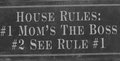 House rules sign Royalty Free Stock Photo