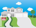 House For Sale Illustration Royalty Free Stock Image