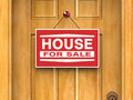 House for sale, Real estate, Home, Door Royalty Free Stock Image