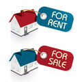 House for Sale and for rent Tags Royalty Free Stock Photo