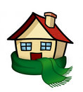 House with scarf Royalty Free Stock Photo