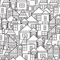 House seamless pattern vector illustration of the Stock Photos