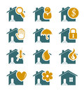 House security and service icons editable vector set Royalty Free Stock Photography
