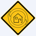 House security sign Royalty Free Stock Images