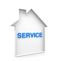 House service with blue text Royalty Free Stock Images