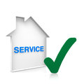 House service online with blue text Royalty Free Stock Photography