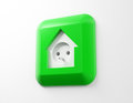 House shaped electricity socket home energy use Stock Photography
