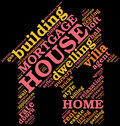 House - shaped tag cloud , home symbol Stock Image